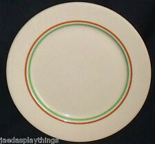 Wallace China Dinner Plate Desert Restaurant Ware 9.5 In. Green Band