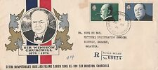 FDC-Brunei Centenary  birth of Sir Winston Churchill (registered cover ) 74