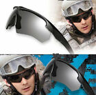 Men's Eyewear ESS CROSSBOW Tactical Goggles Military Army Sunglasses with 3 Lens