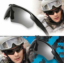 men's 100% bulletproof ESS Tactical Goggles Military Army Sunglasses with 3 Lens