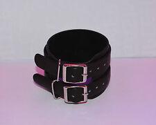 Bracelet de force cuir boucle en acier inox 2 liens super qualit , bikers db1366