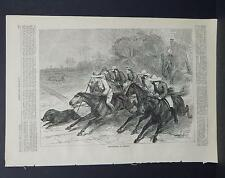 HARPER'S WEEKLY Single Page S2#046 May 1873 Hog-Hunting in Bengal