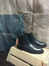 ZARA SHINY ANKLE BOOTS WITH STUD DETAIL SIZE UK 5 EUR 38  REF: 7185 101