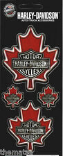 HARLEY DAVIDSON MOTORCYCLES CLASSIC MAPLE LEAF  STICKER DECAL SET