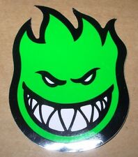 "SPITFIRE GREEN Logo Skate Sticker 4.5 X 6"" skateboards helmets decal"