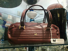 NINA RICCI LEATHER BAG - BORSA PELLE Bordeaux - ORIGINAL VINTAGE new from store