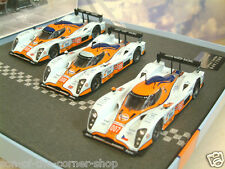 NOREV 1/43 SET OF 3 GULF LOLA ASTON MARTIN LMP1's 007/8/9 LE MANS 2009 270512