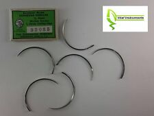 6 Veterinary Suture Needles Martin's Uterine 1/2 Circle Large Cutting Edge USA