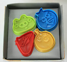 Angry Birds Ejector Plunger Cutters, 4 Cutters in Pack, Pastry, Sugarcraft