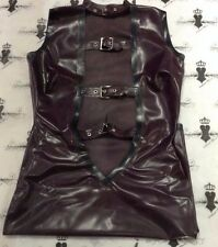 R0530 Rubber Latex FETISH Westward Bound 10 DRESS *Aubergine/ Blk*