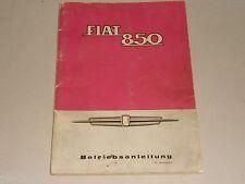 Manuale di istruzioni manuale FIAT 850/850 Super, stand giugno 1965
