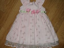 Girls age 4 dress pink white party occasion Jona Michelle