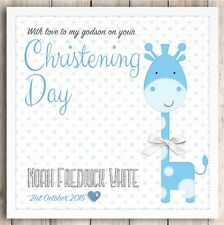 Personalised Handmade Christening / Naming Day / Baptism Card