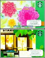 2x STARBUCKS 2015 QUEBEC STORE FRONT AND PINK FLOWER COLLECTIBLE GIFT CARD LOT