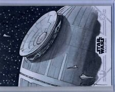 2016 TOPPS STAR WARS ROGUE ONE SERIES 1 DEATH STAR SKETCH by ERIC LEHTONEN