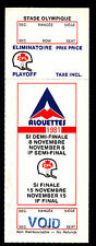 Montreal Alouettes vs Ottawa Rough Riders November 8 1981 Voided Playoff Ticket