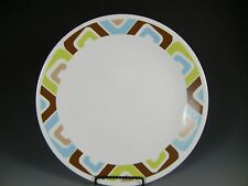 Corelle SQUARED Dinner Plates, Green, Brown, Blue 10 1/4 in.