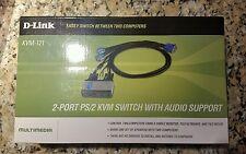 D-Link  KVM (KVM121) 2-Ports External KVM / audio switch PS/2
