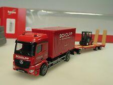 Herpa Mercedes Arocs SCHOLPP Container-LKW, TU3 u. Gabelstapler - 306232 - 1/87