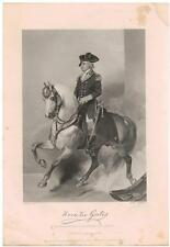 Horatio Gates 1862 Steel Engraving Print General Revolutionary War 7 Year War