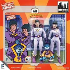 "Dc Comics Super Friends 8"" action  Figure The Wonder Twins & Gleek  retro mego"