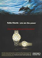 "Seiko Kinetic ""You Are The Power"" Dolphins 1996  Magazine Advert #7544"