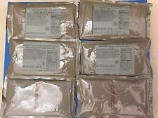 6 MRE Entrees from Meals Ready to Eat Military Disastor Emergency  Food