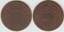 +Gertbrolen+  Jeton en cuivre de 1694 Dijon  Maieur  Exemplaire Numéro A 19