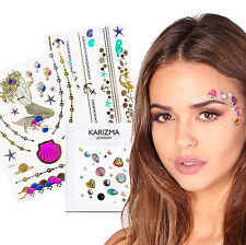 Mermaid Beauty Pack Face Jewels Gems Flash Tattoo