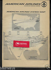 AMERICAN AIRLINES & ROUTE MAPS/TRANSCONTINENTAL/SYSTEM 1962