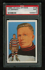 PSA 9 CY DENNENY 1985 Hockey Hall Of Fame Card #138