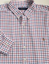 New Polo Ralph Lauren Long Sleeve Red / White Checked Oxford Sport Shirt / 4X