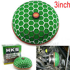 Universal 3'' HKS Car Auto Air Filter Mushroom Flow 80mm Intake Reloaded Cleaner