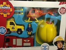 New Fireman Sam rescue play set figure and helmet helicopter jupiter DAMAGED BOX