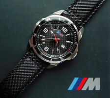 BMW M Power Men's Motorsport Watch - Real Carbon Fiber Dial, Swiss Movement, NIB