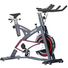 Merax Pro Fitness Indoor Cycle Trainer-- 49 pound flywheel (Grey and White)