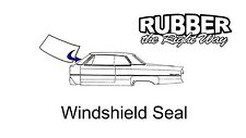 1970 - 1976 Dodge Dart / Plymouth Valiant Duster Windshield Seal With Lock Strip