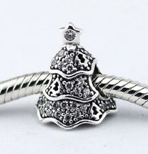 TWINKLING CRYSTAL TREE .925 Sterling Silver European Charm Bead T3