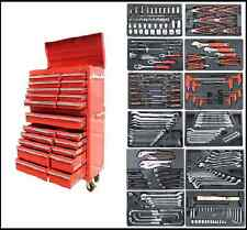 267 US PRO Red Tool Chest Box Snap Up cabinet toolbox + tools FINANCE AVAILABLE