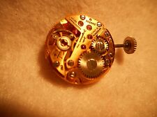 FHF 34-21 JULES JURGENSEN WATCH MOVEMENT RUNS GOOD & STEM AND ORIGINAL JJ CROWN