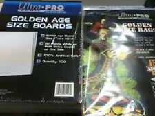 50 Ultra Pro Golden Size  Storage Bags And Boards  Brand New