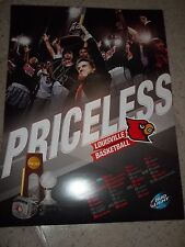 Louisville Cardinals Basketball 2013 NCAA Champs Poster Signed by Peyton SIva