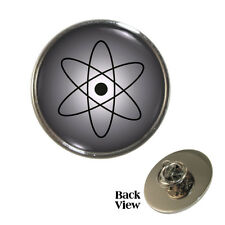 Atom Metal Pin Badge nucleus nuclear chemistry atomic science proton physics NEW