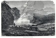 Antique print Macapata valley hot spring well Arequipa Peru South America 1871