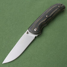 Sanrenmu LAND MC6-908 SRM 8Cr13MoV Blade Micarta Handle Camping Folding Knife