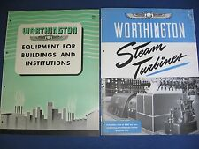 Worthington Pump Corp. Asbestos History Industrial Steam Turbines 1950s Catalogs