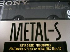 SONY METAL-S 90 Super Sound Performance Audio Cassette Tape RARE OVP Sealed 1990