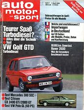 1982 AUTO MOTOR & SPORT MAGAZIN 7 VW GOLF GTD MERCEDES 380 SEC CITROEN VW POLO