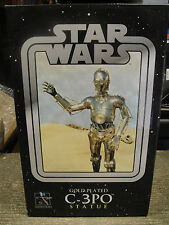 STAR WARS  C-3PO 1/6 GOLD PLATED STATUE MAQUETTE MIB!! By GENTLE GIANT The CLONE