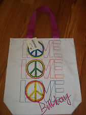 Billabong White Jungle Gym Youth Girls Tote Bag NWT